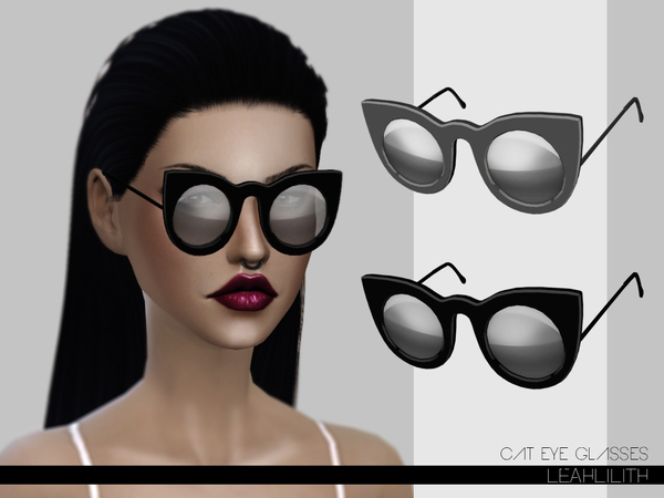 The Sims Resource: Cat Eye Glasses by LeahLilith