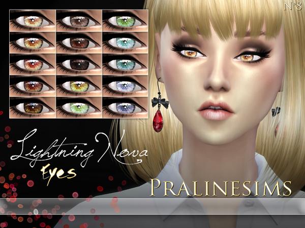 The Sims Resource: Lightning Nova Eyes by Pralinesims