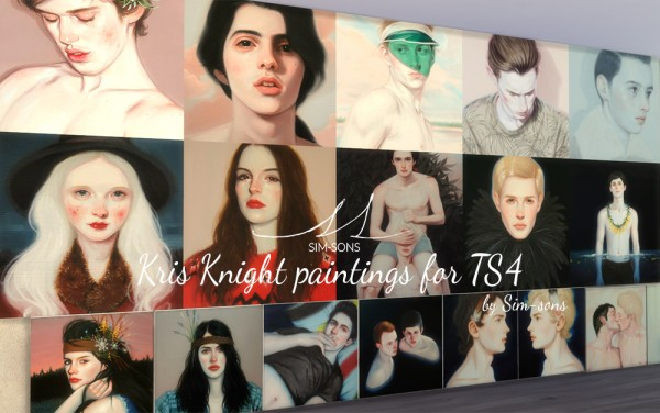 SIM SONS: Kris Knight paintings