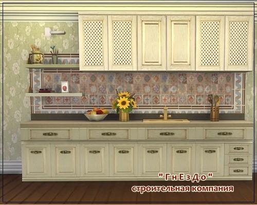 Sims 3 by Mulena: Kitchen furniture set Sonata
