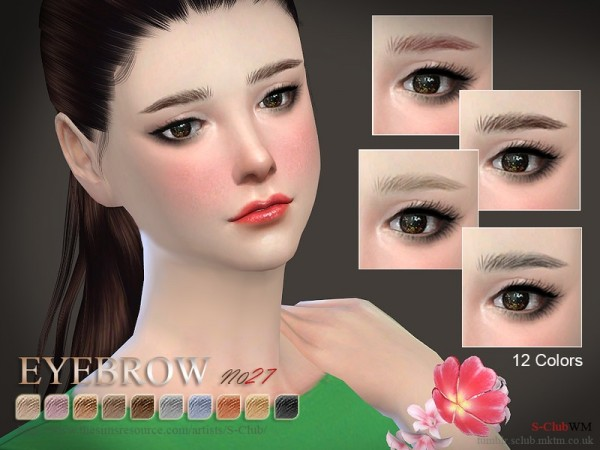 The Sims Resource: Eyebrows 27 F by S Club