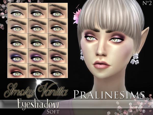 The Sims Resource: Smoky Vanilla Eyeshadow (Soft) by Pralinesims