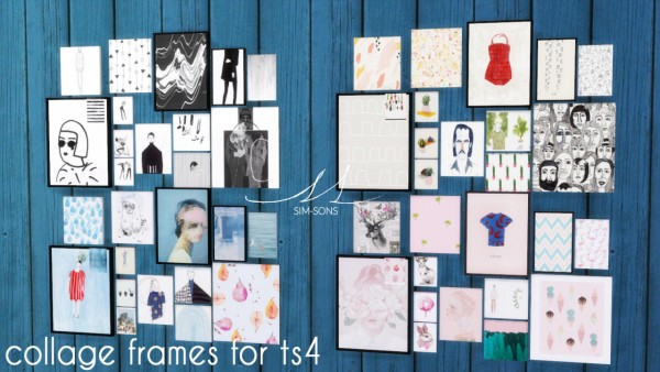 Sim Sons Collage Frames Sims 4 S