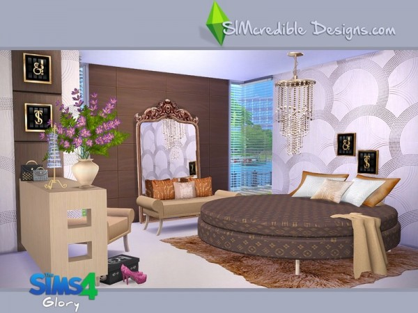 The sims resource glory by simcredible design sims 4 for Bedroom designs sims 4