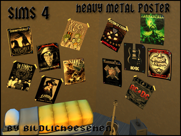 Akisima Sims Blog: Heavy Metal Poster Set