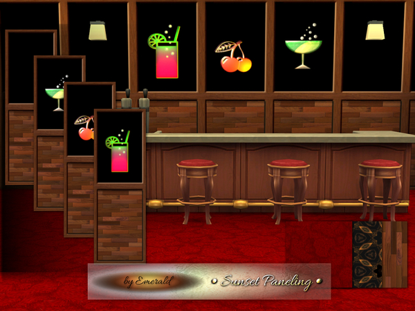 The Sims Resource: Sunset Paneling by emerald