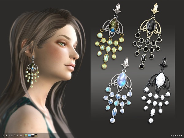 The Sims Resource: Kristen Earrings by toksik