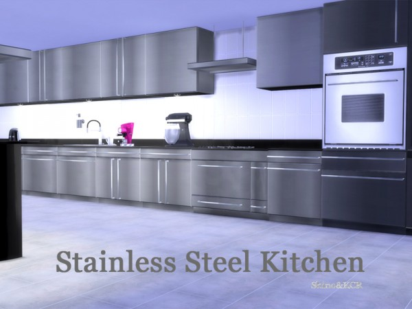 The Sims Resource: Stainless Steel Kitchen by ShinoKCR