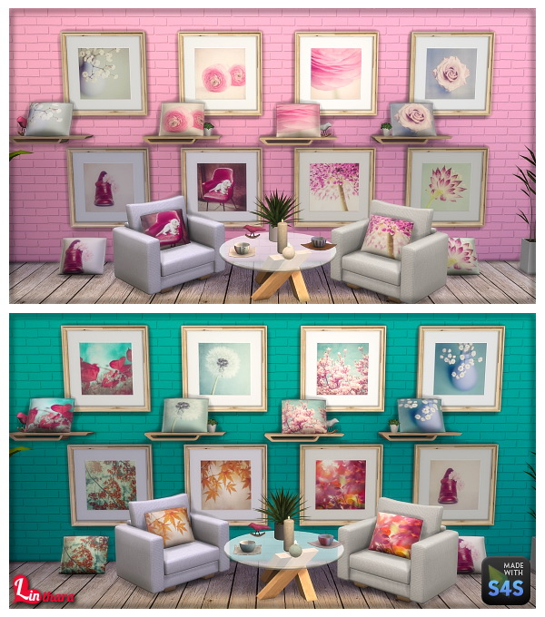 Lintharas Sims 4: Juste Pixx Paintings and Cushions     Part one