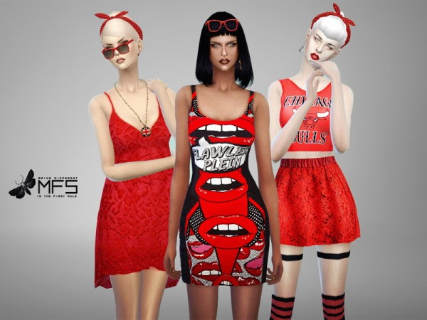 MissFortune Sims: Red Mood Collection