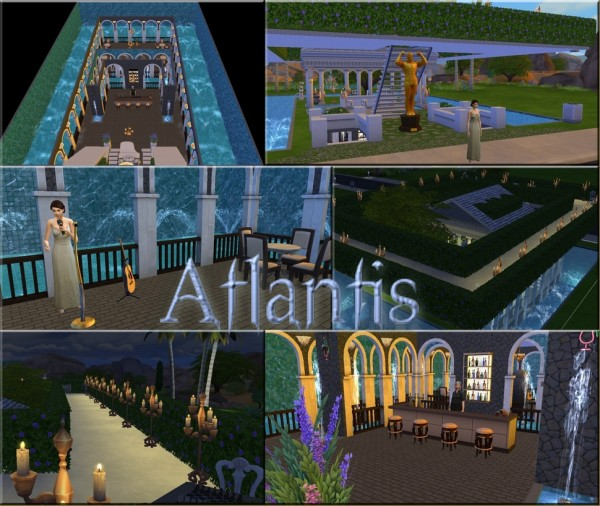 Mod The Sims Atlantis Underwater Nightclub By Sauris