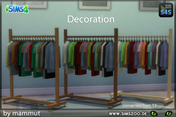 Blackys Sims 4 Zoo: Sculpture Clothing Rack by mammut