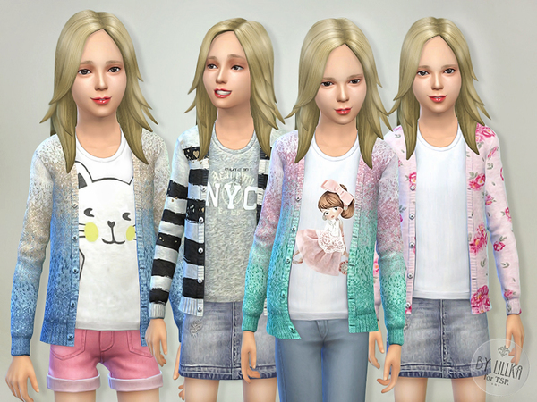 The Sims Resource: Pretty Cardigan by lillka