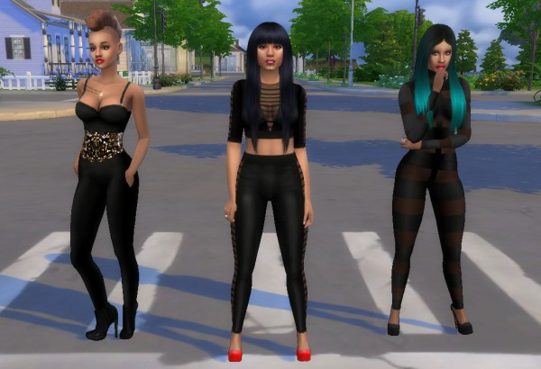Mod The Sims: Day N Nyte BodyCon fulloutfit V2 by MzEnvy20
