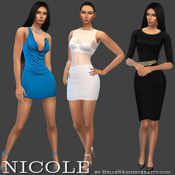 Sims Creativ: Nicole sims model by HelleN