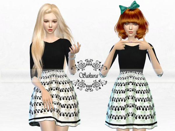 The Sims Resource: Droplet Dress by SakraPhan