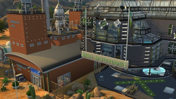 Mod The Sims: FutureSim Labs career venue reworked for SNSA Shenandoah Airship by coolspear1
