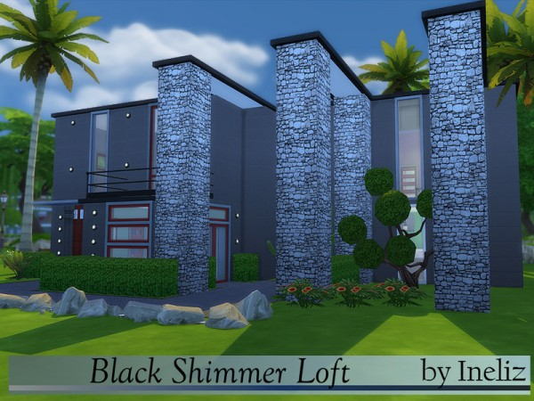 The Sims Resource: Black Shimmer Loft by Ineliz