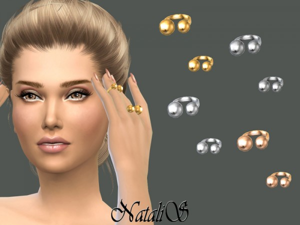 The Sims Resource: Metal beads open rings by NataliS