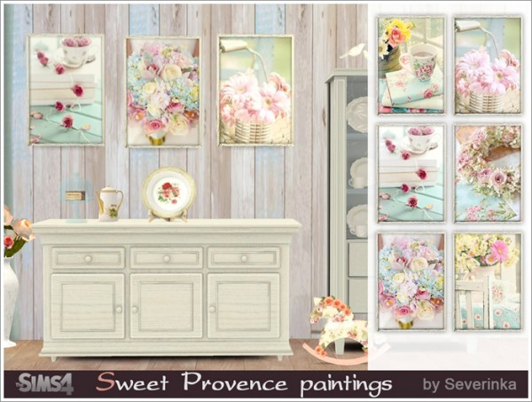 Sims by Severinka: Sweet Provence paintings