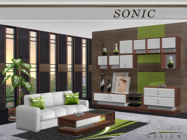 The sims resource sonic livingroom by nynaeve design for Living room designs sims 4