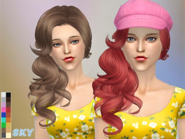 The Sims Resource: Skysims Hair 126gio by Skysims