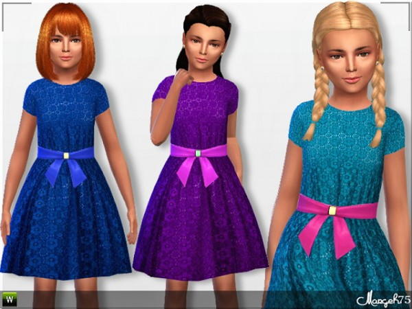 Sims 3 Addictions: Child Lace Dress Posted by Margies Sims