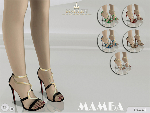 The Sims Resource: Madlen Mamba Sandals by MJ95