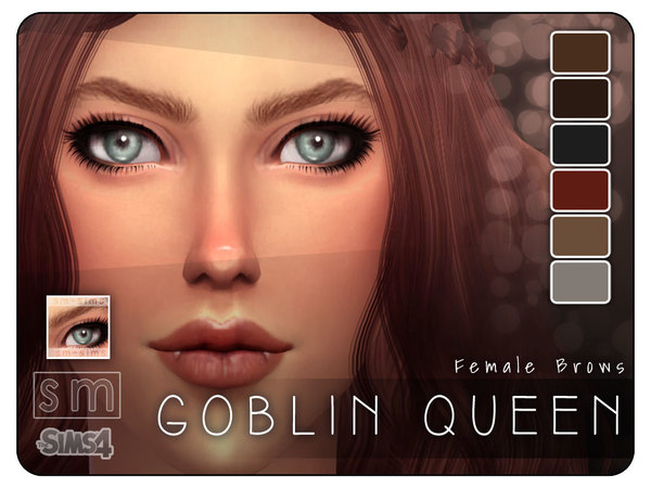The Sims Resource: [ Goblin Queen ]   Realistic Brows by Screaming Mustard
