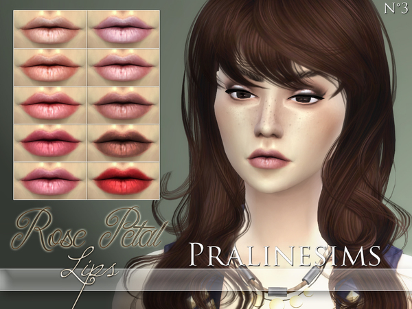 The Sims Resource: Rose Petal Lips by Praline Sims