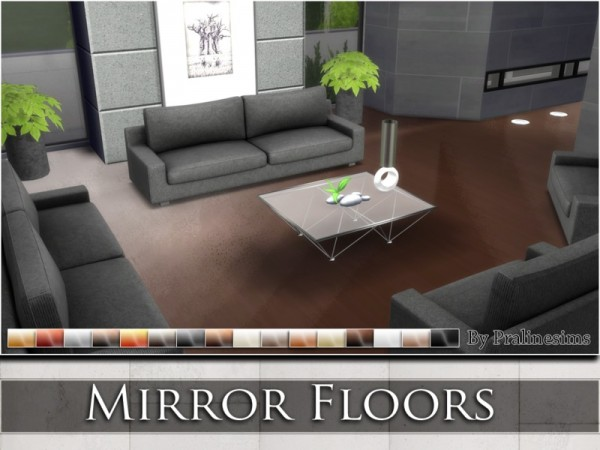 The Sims Resource Mirror Floors By Praline Sims Sims 4 Downloads
