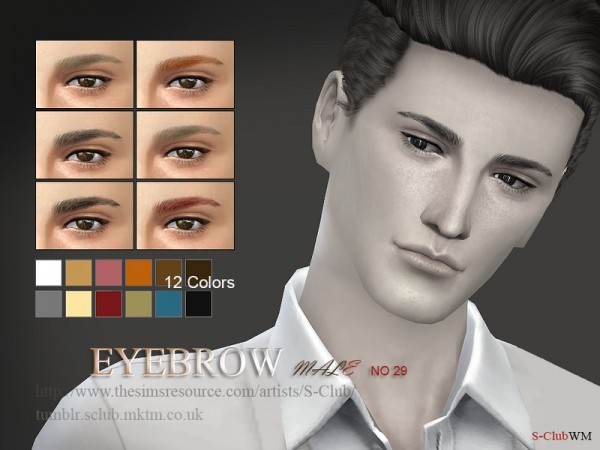The Sims Resource: Eyebrows 29 M by S Club