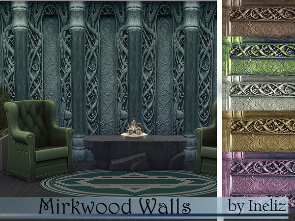 The Sims Resource: Mirkwood  Walls by Ineliz