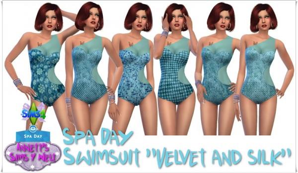Annett`s Sims 4 Welt: Spa Day   Swimsuit Velvet & Silk