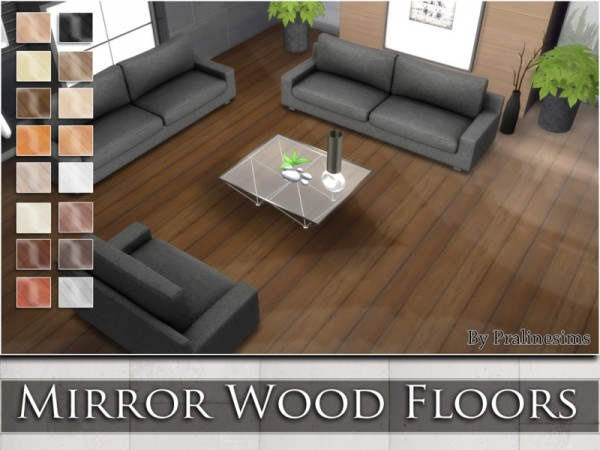 The Sims Resource: Mirror Wood Floors by Praline Sims • Sims 4 Downloads