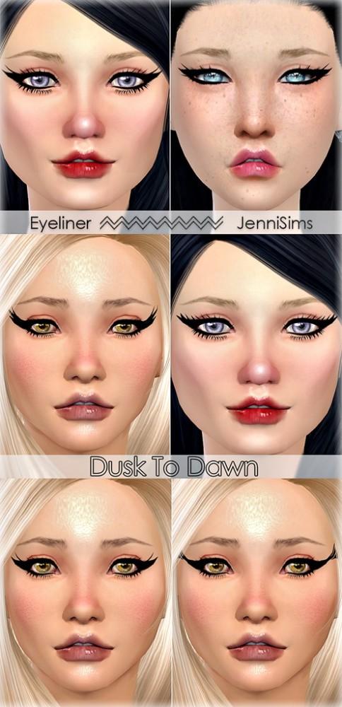 Jenni Sims: Eyeliner Dusk To Dawn (5 Styles)