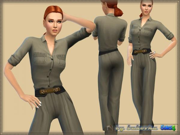 The Sims Resource: Safari Jumpsuit by Bukovka