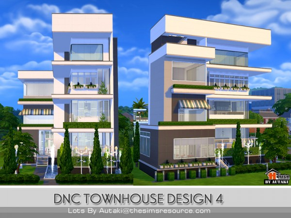 The sims resource dnc townhouse design 4 by autaki sims for Townhouse design
