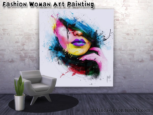 Sims Fans: Fashion Woman Art Painting by  Melinda