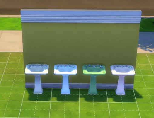 Mod The Sims: 3 Free Standing Sinks converted from TS2 by simmythesim