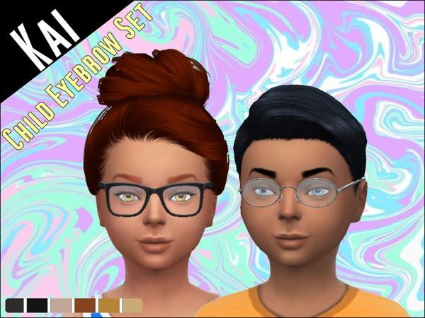 The Sims Resource: Child Eyebrow  SET 1 by KaiSims