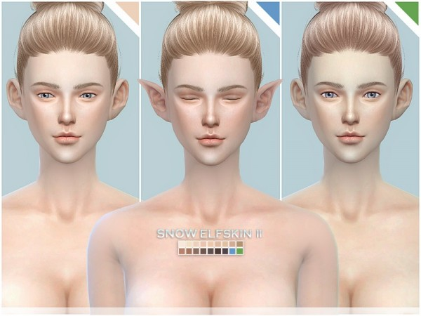 The Sims Resource: Snow Elf skintones by S Club