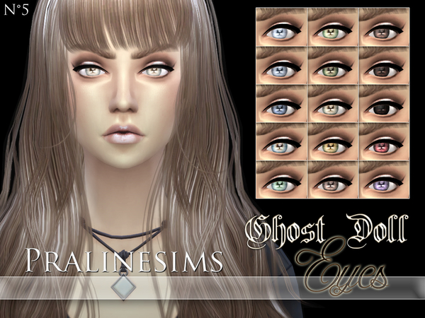The Sims Resource: Ghost Doll Eyes by PralineSims