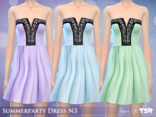 The Sims Resource: Summerparty Dress N3 by Aveira