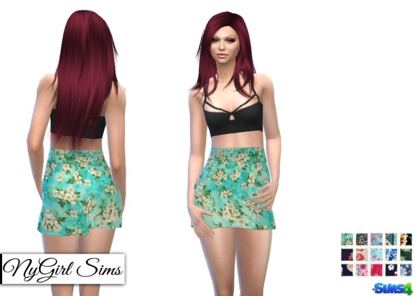NY Girl Sims: Strappy Black Bralette Two Piece Dress