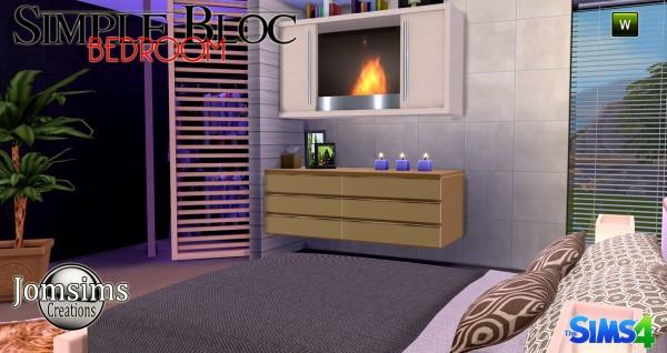 Jom Sims Creations: Simple bloc bedroom