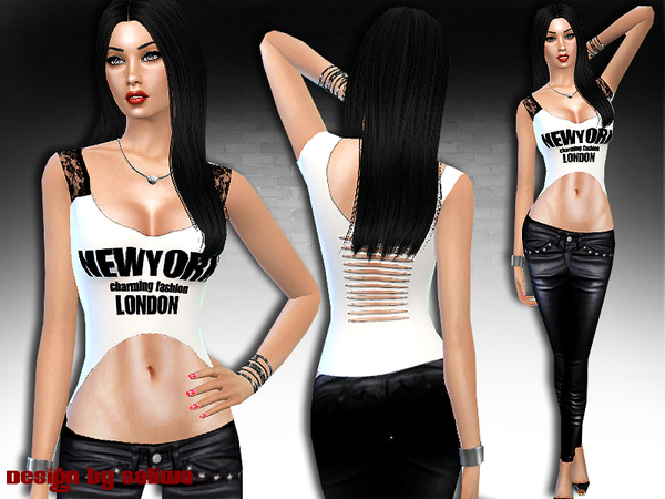 The Sims Resource: New York Charming Full Outfit by Saliwa