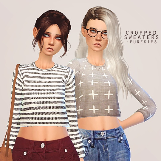 Pure Sims Cropped Sweater Sims 4 Downloads