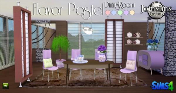 Jom Sims Creations: Flavor pastel livingroom