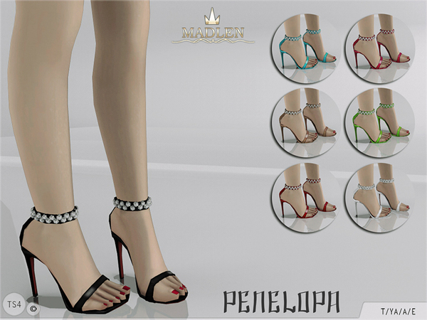 The Sims Resource: Madlen Penelopa Sandals by MJ95